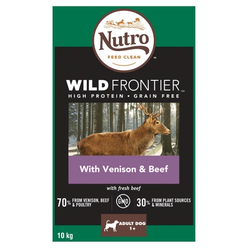 Nutro Wild Frontier Venison & Beef Dry Medium Adult Dog Food 10kg
