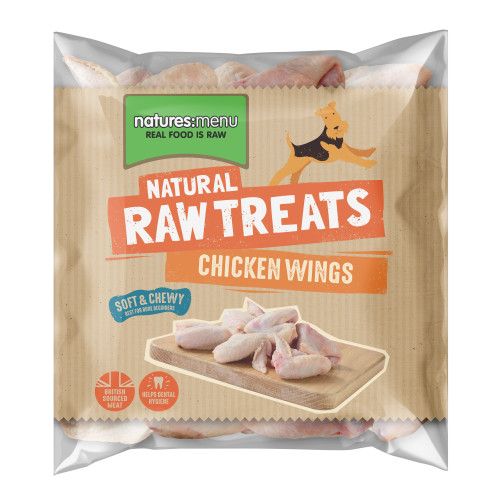 Natures Menu Chicken Wings Raw Frozen Natural Dog Treat