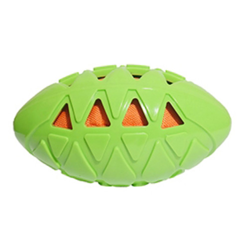 Rosewood Tough Crunch Rugby Ball Dog Toy