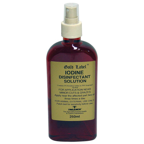 Gold Label Iodine Disinfectant Solution Spray 250ml