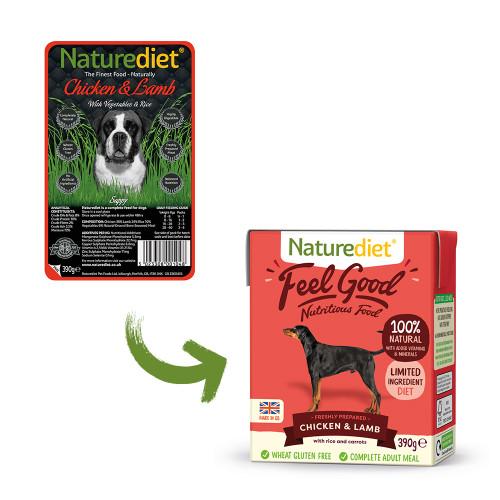 Naturediet Chicken & Lamb Wet Adult Dog Food Cartons