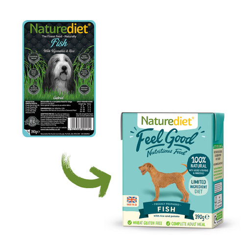 Naturediet Feel Good Fish Adult Wet Dog Food Cartons
