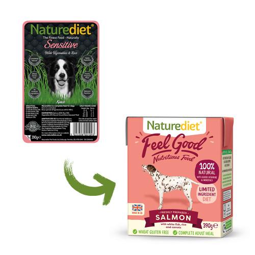 Naturediet Feel Good Salmon Adult Wet Dog Food Cartons