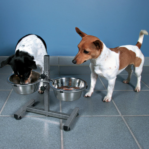 Trixie Adjustable Dog Bar Feeding Station