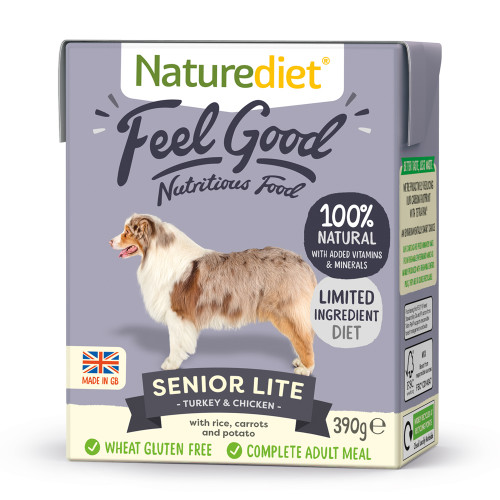Naturediet Feel Good Senior Lite Wet Adult Dog Food Cartons