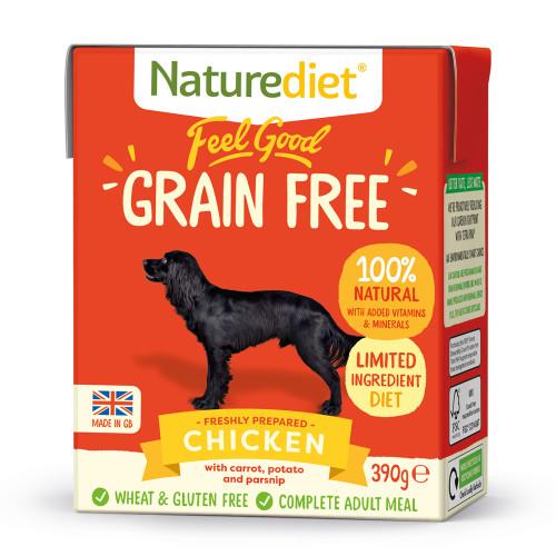 Naturediet Feel Good Grain-free Chicken Wet Adult Dog Food Cartons