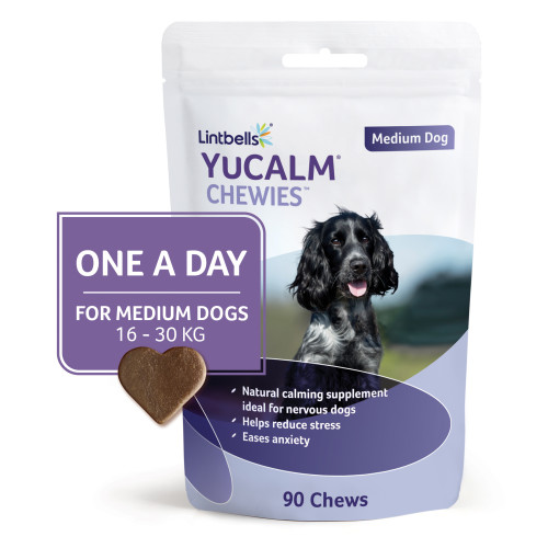 YuCALM Chewies One a Day Dog Calming Supplement Medium Dogs - 90 Chews