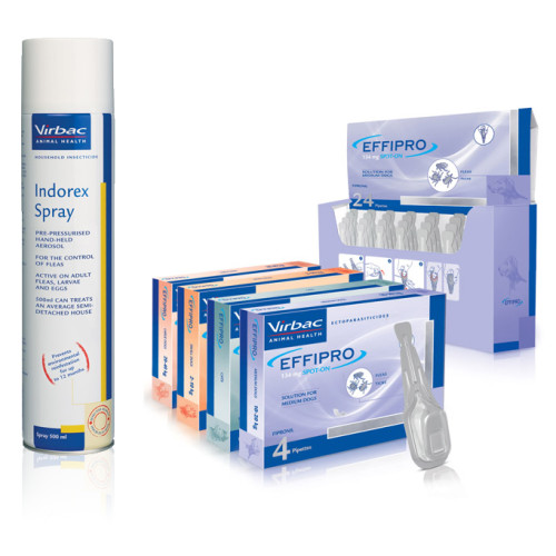 Virbac Effipro & Indorex Dog Flea Treatment Bundle