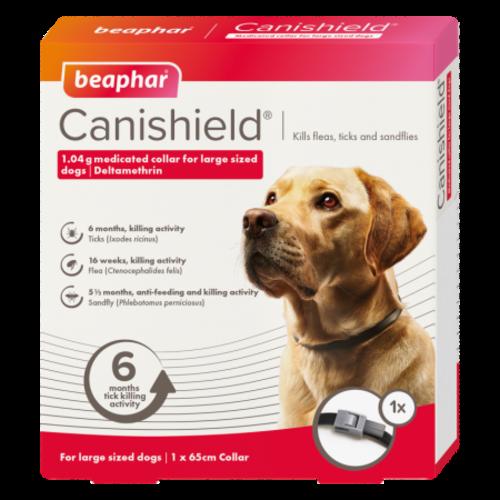 Beaphar Canishield Flea & Tick Collar for Dogs Large - 65cm NFA-D