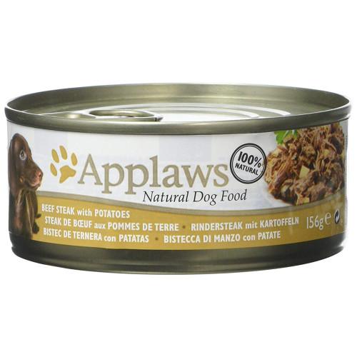 Applaws Beef Steak with Potato Tins Wet Dog Food 156g x 12