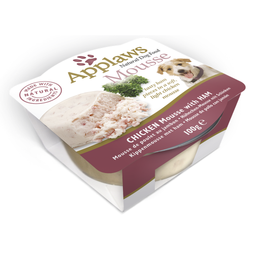 Applaws Chicken Mousse with Ham Dog Food 100g x 6