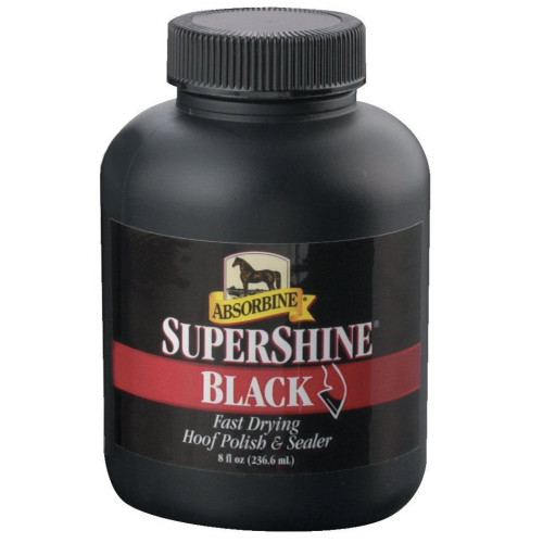 Absorbine Supershine Black Hoof Polish 237ml