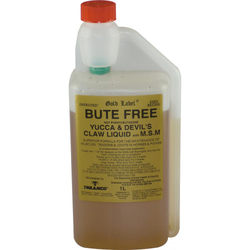 Gold Label Bute Free Horse Supplement 1 Litre