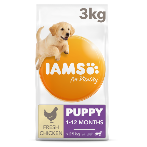 IAMS for Vitality Chicken Puppy Large Breed Dry Dog Food 3kg