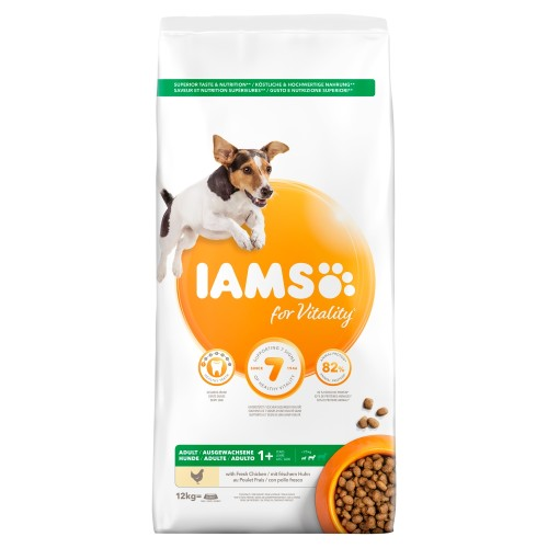 IAMS for Vitality Chicken Small & Medium Breed Adult Dry Dog Food 12kg x 2