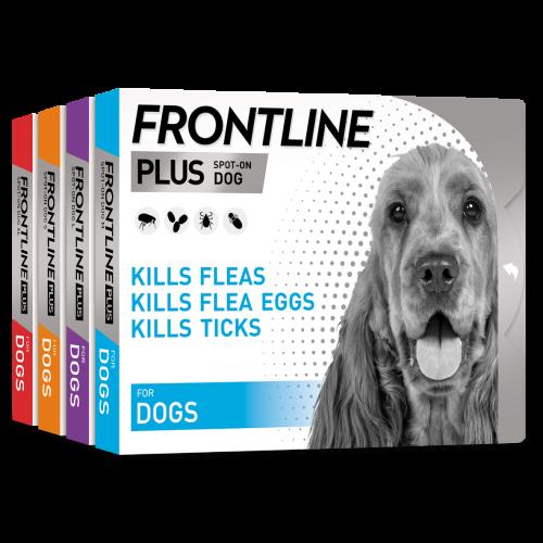 FRONTLINE Plus Flea & Tick Treatment Dog Small Dog (2-10kg) 3 pack NFA-D
