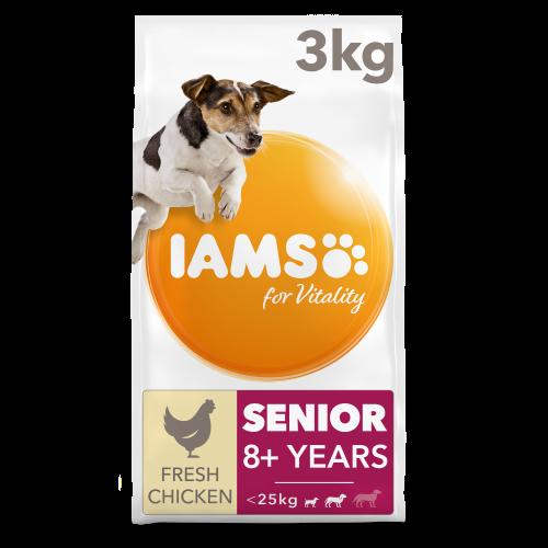 IAMS for Vitality Chicken Senior Small & Medium Breed Dry Dog Food 3kg