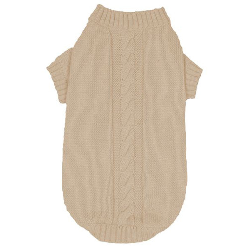 Banbury Knitted Dog Jumper in Ivory Medium