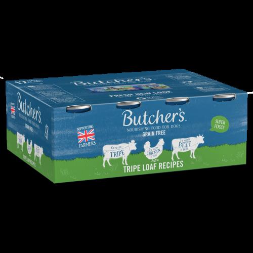 Butchers Tripe Loaf Recipes Dog Food Tins 400g x 12