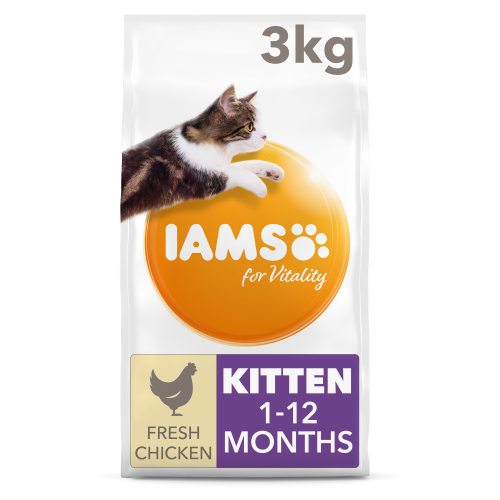 IAMS for Vitality Chicken Dry Kitten Food 3kg