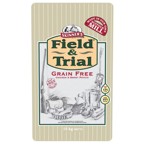 Skinners Field & Trial Grain Free Chicken & Sweet Potato Dry Adult Dog Food 15kg