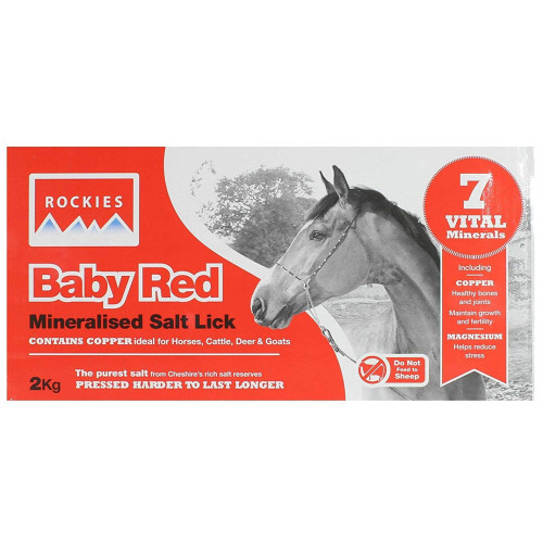Rockies Baby Red Salt Lick for Horses