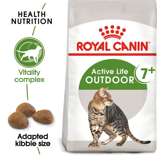 Royal Canin Outdoor 7+ Dry Adult Cat Food 10kg x 2