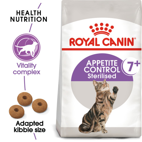 Royal Canin Appetite Control Sterilised 7+ Dry Adult Senior Cat Food 400g