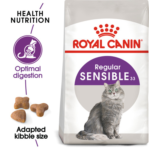 Royal Canin Sensible 33 Dry Adult Cat Food 10kg x 2