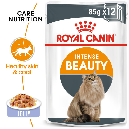 Royal Canin Intense Beauty Care in Jelly Adult Wet Cat Food Pouches