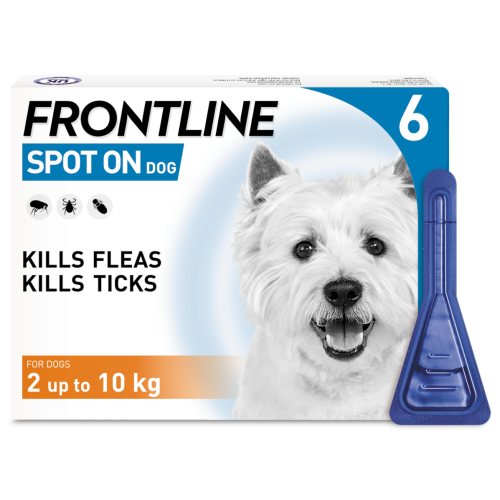FRONTLINE Flea & Tick Treatment Dog Small Dog (2-10kg) 6 Pack