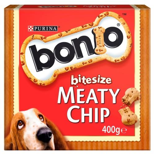 Bonio Bitesize Meaty Chip Dog Biscuits
