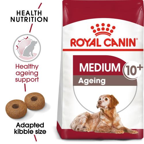 Royal Canin Medium Ageing 10+ Dry Senior Dog Food 15kg x 2