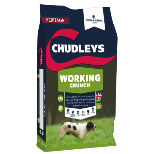Chudleys Working Crunch Dog Food 15kg x 2