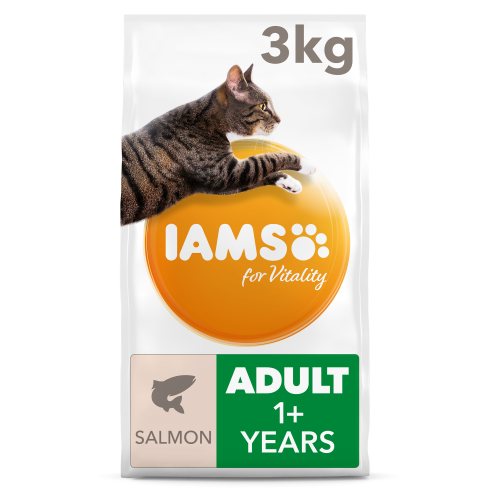 IAMS for Vitality Salmon Adult Dry Cat Food 3kg