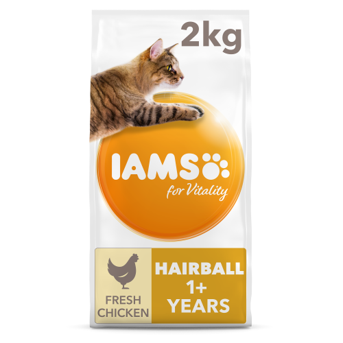 IAMS for Vitality Chicken Hairball Control Adult Cat Food 3kg