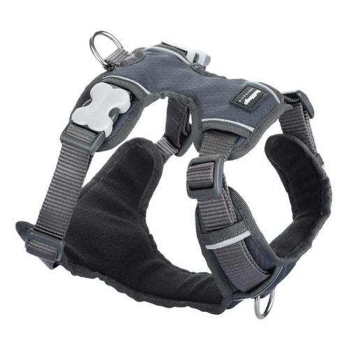 Red Dingo Padded Harness for Dogs in Cool Grey Small