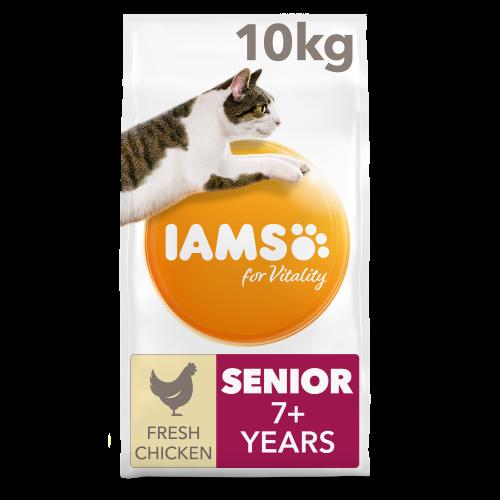 IAMS for Vitality Senior Chicken Dry Cat Food 10kg