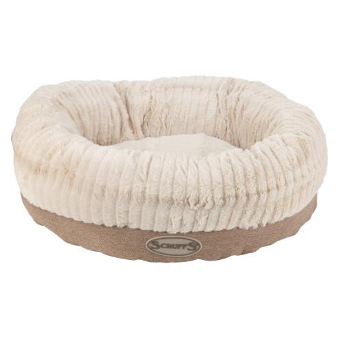 Scruffs Ellen Donut Dog Bed in Tan
