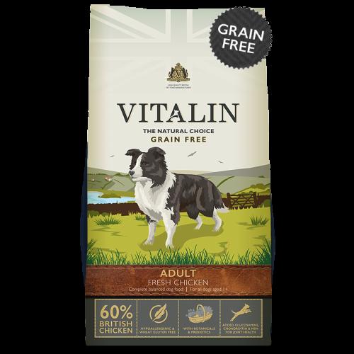 Vitalin Natural Grain Free Chicken Adult Dog Food 12kg