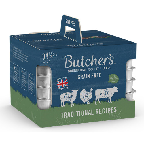 Butchers Traditional Recipes Dog Food Trays 150g x 72