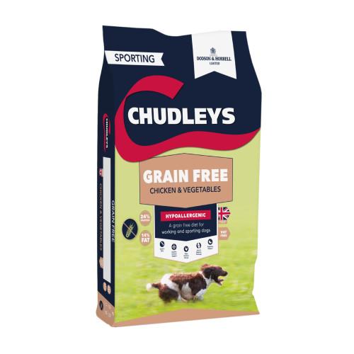 Chudleys Grain Free Chicken & Vegetable Dry Adult Dog Food 15kg x 2