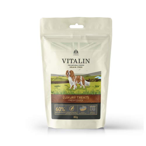 Vitalin Natural Luxury Duck Dog Treats 80g