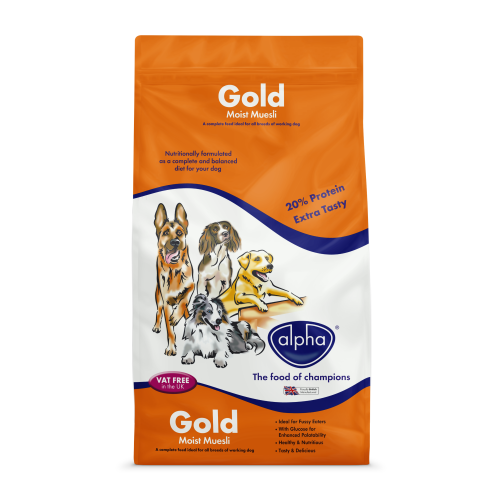 Alpha Gold Moist Muesli Dog Food 15kg