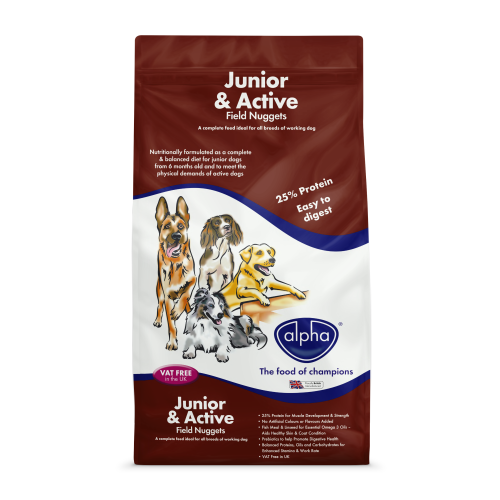 Alpha Junior & Active Field Nuggets Dog Food 15kg