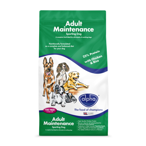 Alpha Sporting Adult Dog Food 15kg