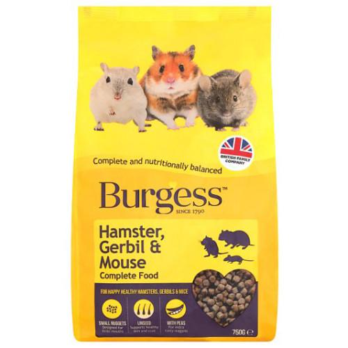 Burgess Complete Hamster, Gerbil & Mouse Food 750g