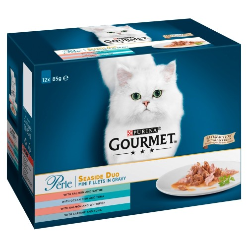 Gourmet Perle Pouch Seaside Duo in Gravy Cat Food
