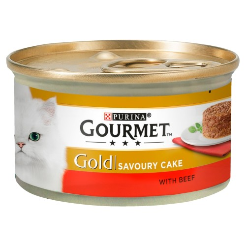 Gourmet Gold Savoury Cake Beef In Gravy Adult Cat Food