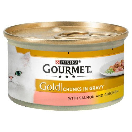 Gourmet Gold Salmon & Chicken in Gravy Cat Food 85g x 12